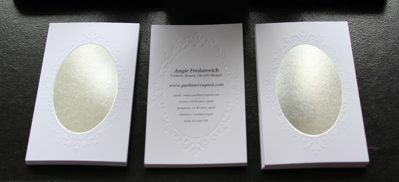 NZ Fashion Beauty Blogger Business Cards