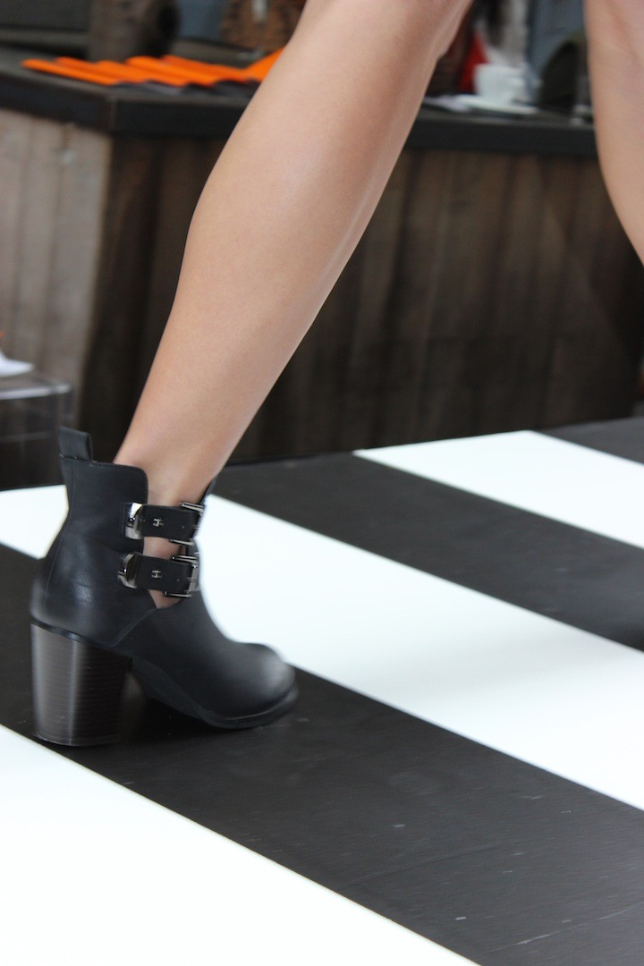 Number One Shoes catwalk to side walk heel boots