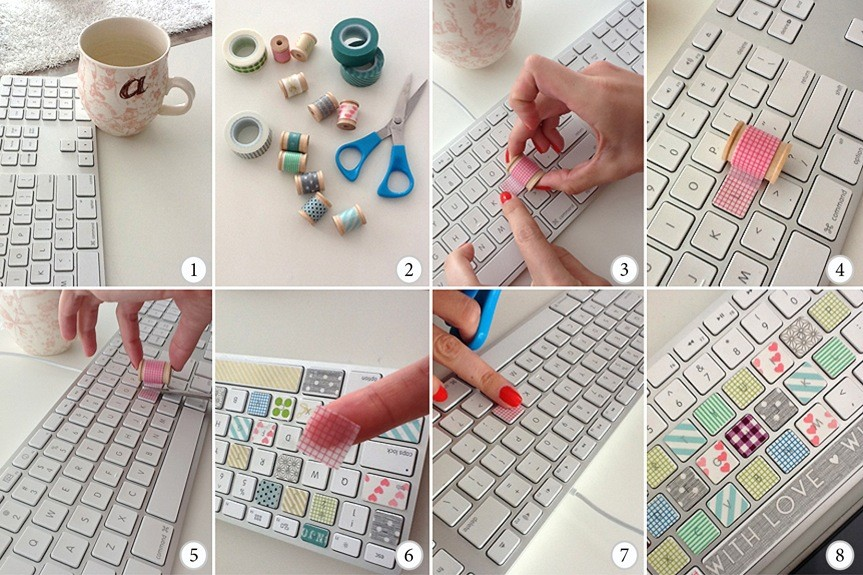 Washi Tape Keyboard Tutorial NZ Style Blogger