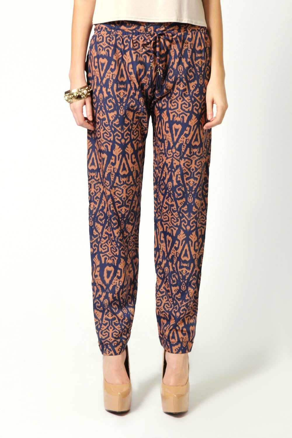 boohoo.com Emily Relaxed Fit Ikat Print Drawcord Trousers $50 nz fashion blogger
