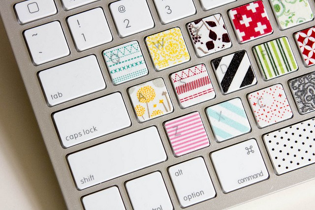 WASHI TAPE KEYBOARD nz style beauty blogger