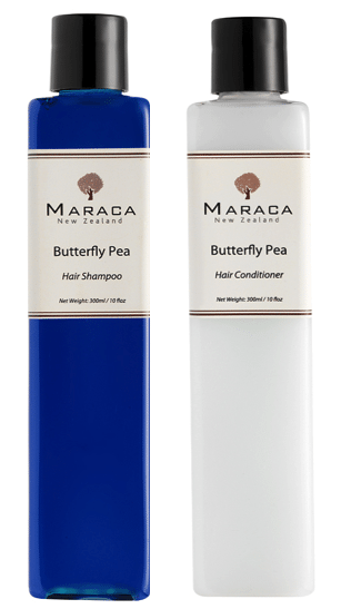 maraca butterfly pea shampoo and conditioner new zealand beauty blogger