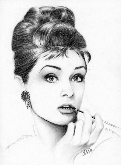 Audrey Hepburn Illustrations. artist, sketch, Audrey Hepburn, buzzfeed.com. fashion blog nz, beauty blog nz, media nz, magazine nz, beauty blogger