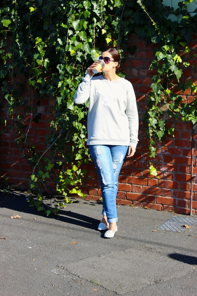 WIWT, OOTD, the warehouse, aleisha clark, sparkPR, SparkActivate, beauty blog nz, style blog nz, fashion blog nz, fashion media, boyfriend jeans, unicorn sweatshirt, Rubi shoes