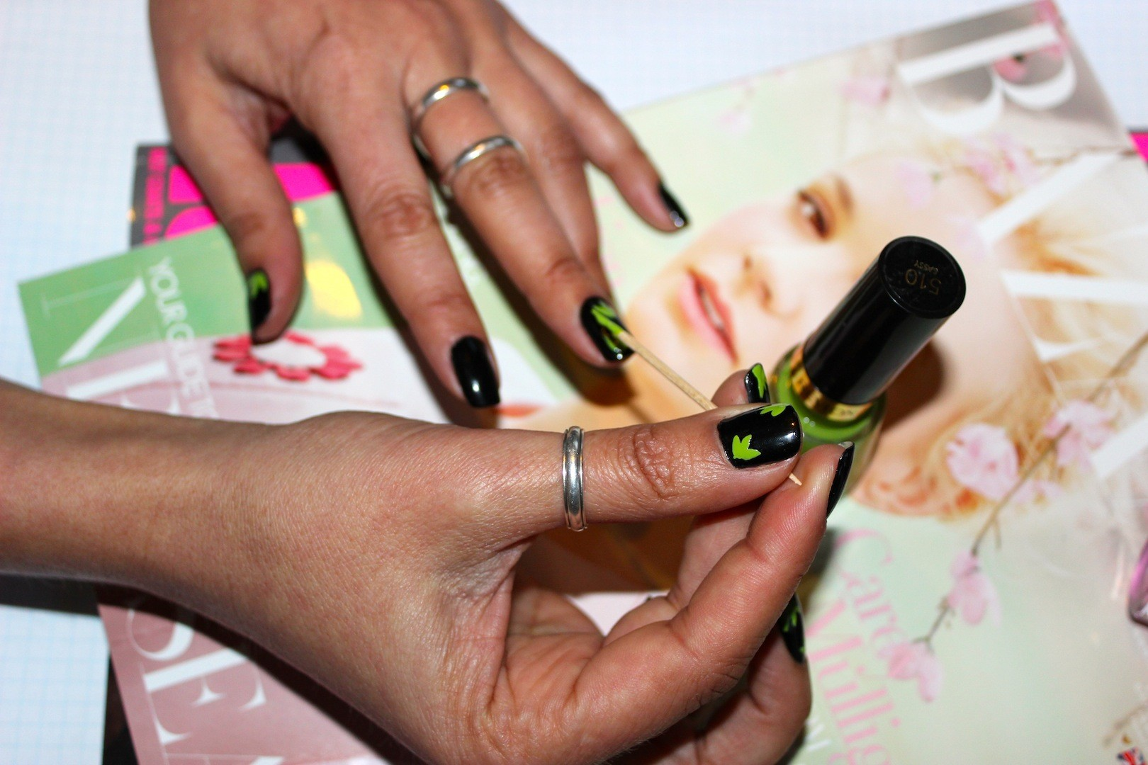 DIY Nails, Nail art, floral nails, manicure, beauty, Fashion media nz, beauty media nz, beauty blog nz, style blog nz, fashion blog nz,  Gurlinterrupted, Angie Fredatovich, orly, butter LONDON, Orly, Maybelline NZ,