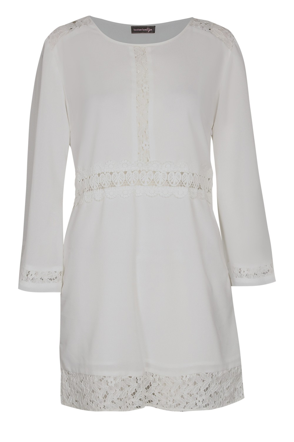 BOOHOO BOUTIQUE Lily Crochet and Lace Shift Dress $65.00