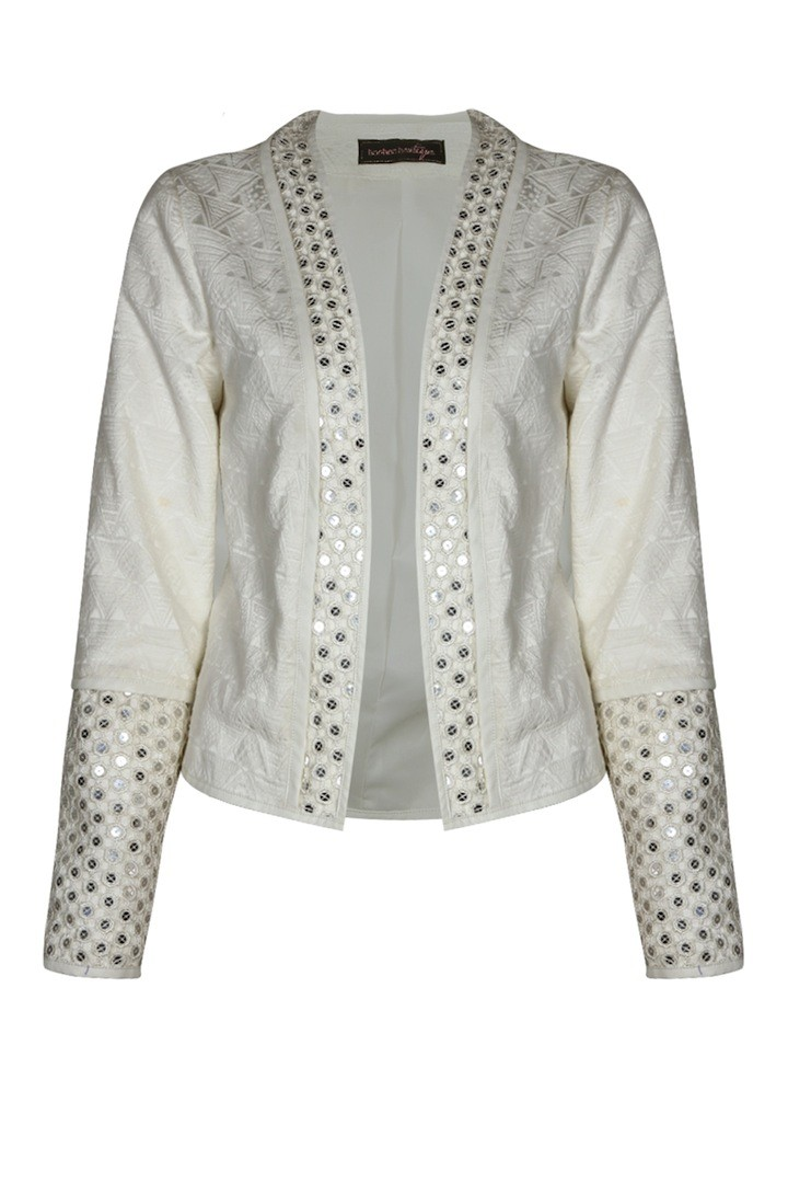 BOOHOO BOUTIQUE Myla Sequin Trim Edge Jacket $90.00