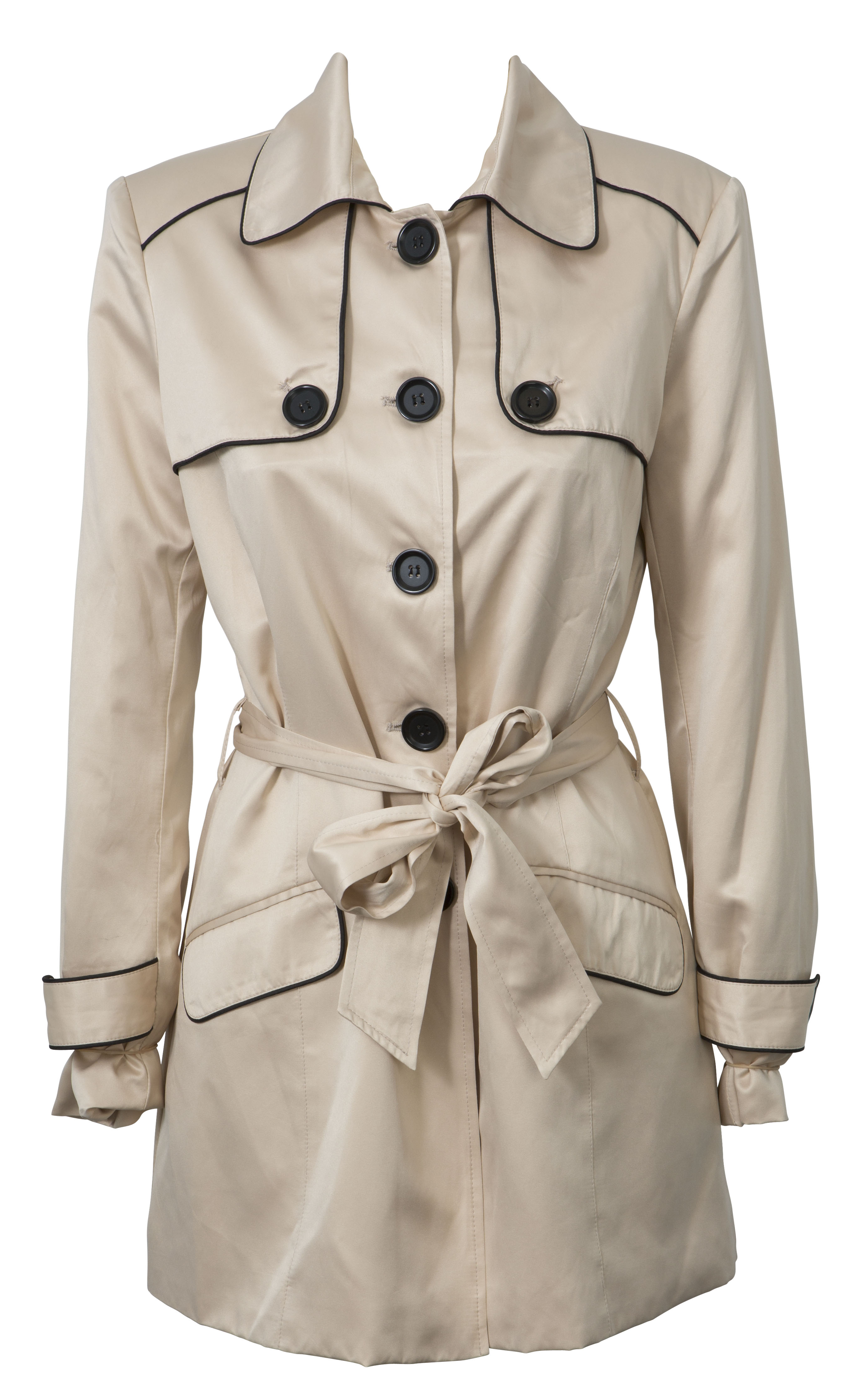Oliver Black Trench Coat, $129.99, Inst March
