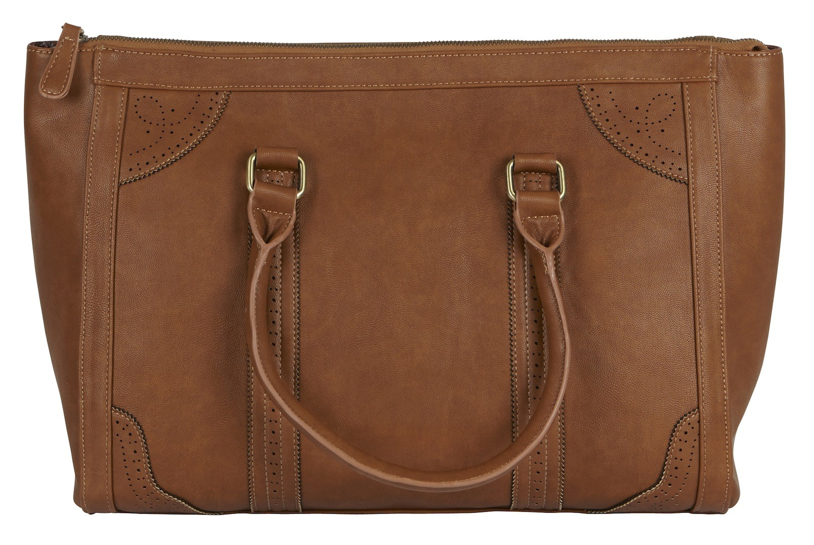 Xcesri, Broguing Detail Shopper, Tan, $79.99