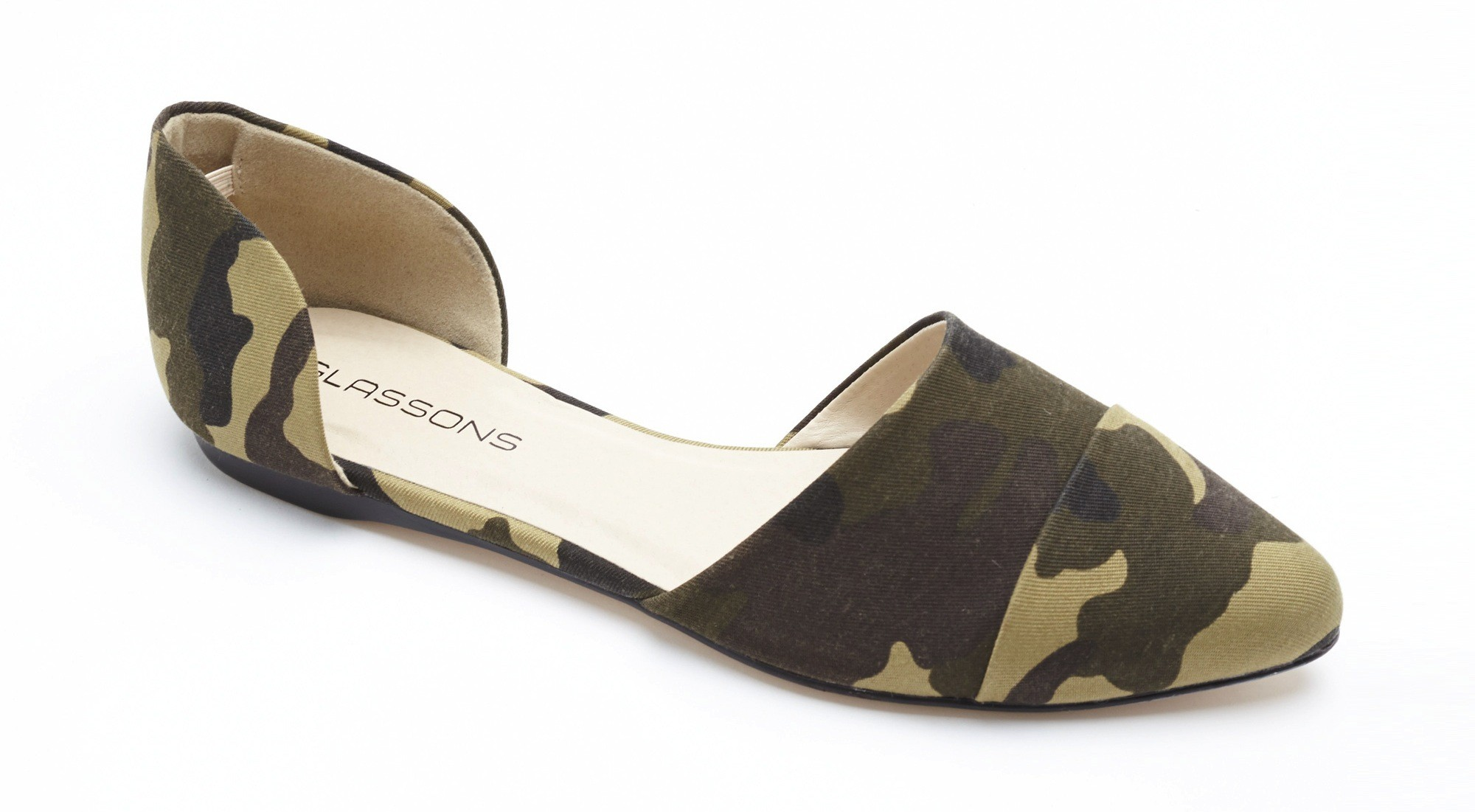 Glassons Pointed Toe Flats in Camo $34.99