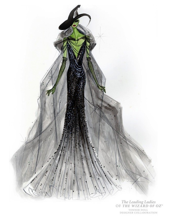 "Top Designers' Illustrations dress ""The Wizard of Oz"" ladies"