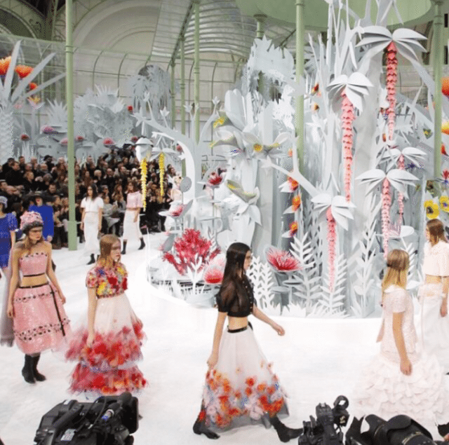CHANEL Transforms Runway Into Tropical Greenhouse To Debut S/S 2015 Haute Couture Collection