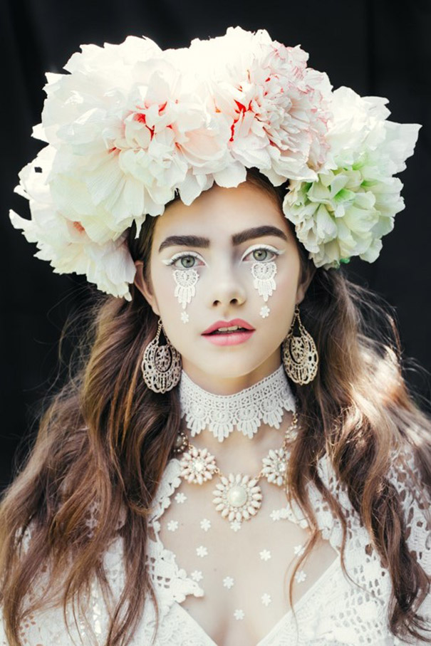Artists Recreate Traditional Slavic Wreaths as Floral Headdresses image 605 x 908