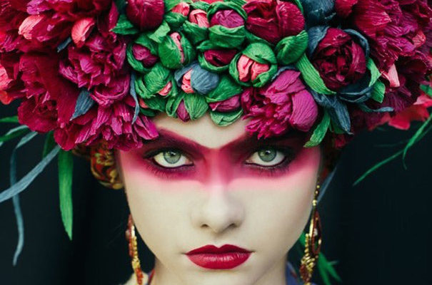 Artists Recreate Traditional Slavic Wreaths as Floral Headdresses image 605 x 466